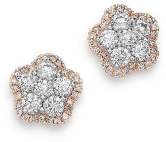 Bloomingdale's Diamond Flower Stud Earrings in 14K Rose & 14K White Gold, 1.0 ct. t.w. - 100% Exclusive