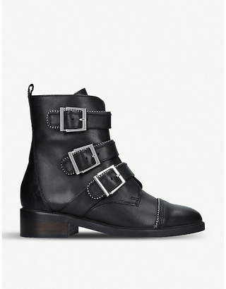 Carvela Sparse buckle and studded leather boots