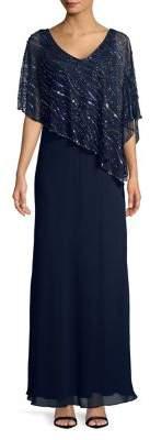 J Kara Petite Sequin-Embellished Gown