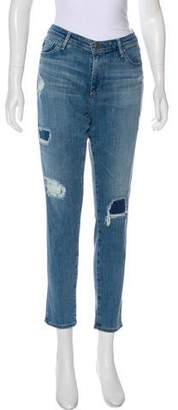 Adriano Goldschmied Distressed Mid-Rise Jeans