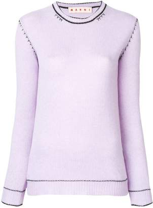 Marni slim-fit knitted cashmere sweater