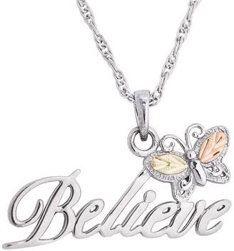 Black Hills Believe Pendant w/ Chain, Sterling/12K Gold