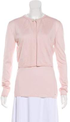 Christian Dior Cashmere Cardigan Set Pink Cashmere Cardigan Set