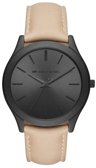 MICHAEL Michael Kors Women's Michael Kors 'Slim Runway' Leather Strap Watch, 44Mm