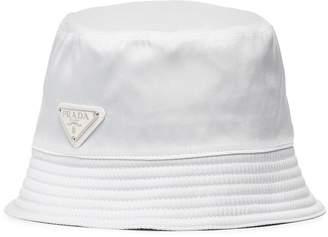 Prada white logo bucket hat