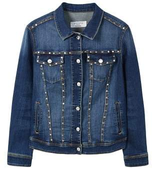 Violeta BY MANGO Studded denim jacket