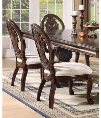 Tabitha Coaster Company Traditional Dining Chair Set of Two, Dark Cherry