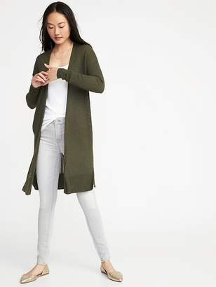 Old Navy Open-Front Super-Long Sweater for Women