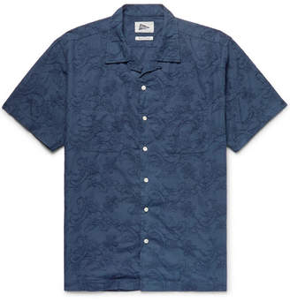 Pilgrim Surf + Supply Vincent Camp-Collar Embroidered Cotton-Poplin Shirt