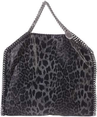 Stella McCartney Grey And Black Falabella Triple Chain Bag