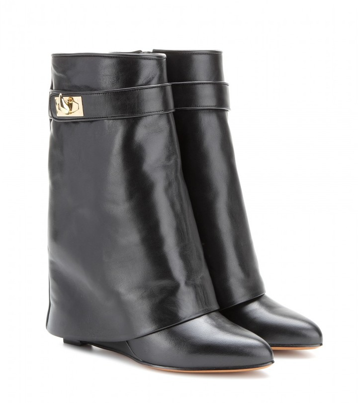 Givenchy Leather wedge calf boots