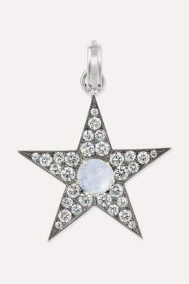 Sylva & Cie 18-karat White Gold, Sapphire And Diamond Pendant - one size