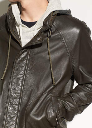 Vince Leather Parka
