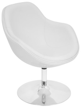 Lumisource Saddle Brook Chair with Swivel in White