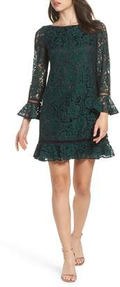 Eliza J Flare Sleeve Lace Shift Dress