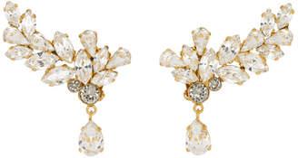 Dolce & Gabbana Gold Crystal Eye Drop Earrings