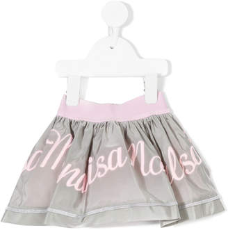 MonnaLisa embroidered logo skirt