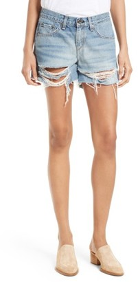 Women's Rag & Bone/jean Ripped Boyfriend Shorts $195 thestylecure.com