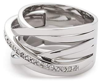 91416bb0d Jewels By Leonardo Leonardo Jewels women ring Verona stainless steel/silver  colored glass transparent size