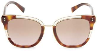 Valentino Two-Tone Square Sunglasses