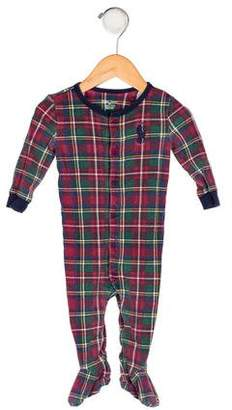 Ralph Lauren Boys' Plaid All-In-One