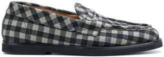 Tomas Maier chequer canvas moccasin
