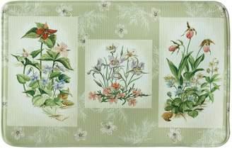 "Bacova Three Bouquets Memory Foam Kitchen Rug - 18"" x 22"""