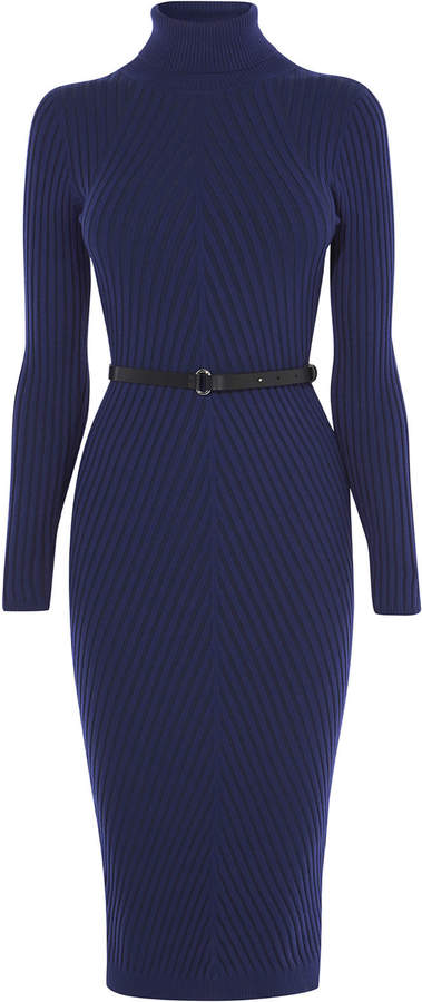 Ribbed Fitted Knit Dress