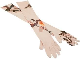 Dries Van Noten Long printed gloves