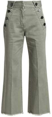 Derek Lam 10 Crosby Wide-Leg Twill Crop Trousers
