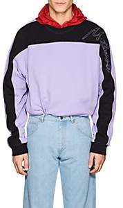Martine Rose Men's Embroidered Colorblocked Cotton Oversized Sweatshirt - Lilac