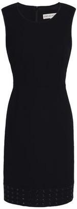Emilio Pucci Eyelet-Embellished Stretch-Wool Crepe Mini Dress