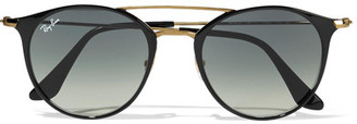 Ray-Ban - Round-frame Acetate And Gold-tone Sunglasses - Black $175 thestylecure.com