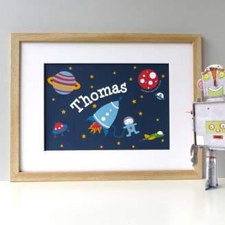 Wink Design Space Rocket Astronaut Print