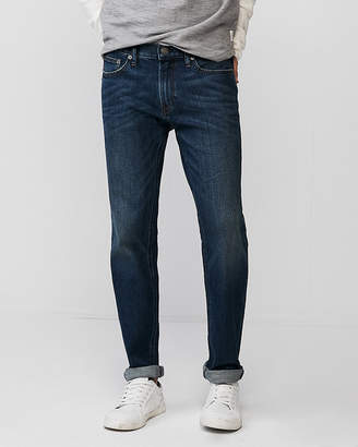 Express Slim Dark Wash Soft Cotton Stretch Jeans