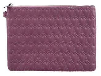 Reece Hudson Embossed Leather Pouchette