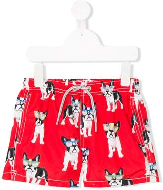 MC2 Saint Barth Kids dog printed swim shorts
