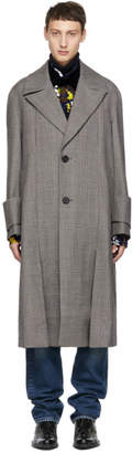 Wooyoungmi Grey Single Breasted Long Coat