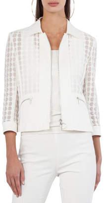 Akris Punto Bracelet-Sleeve Punto Lace Jacket
