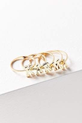 Urban Outfitters Verbiage Stacking Ring Set