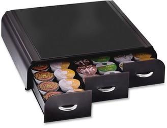 Mind Reader, EMSTRY3PCBLK, EMS Mind 3-drawer Coffee Pod Organizer, 1 Each, Black Housing,Chrome Handle