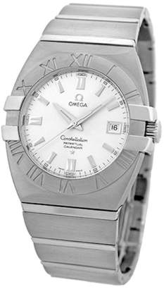 "Omega Constellation Double Eagle"" Stainless Steel Silver Dial Quartz 39mm Mens Watch"