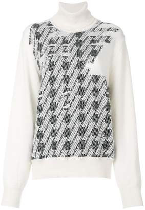 Maison Margiela turtleneck patterned jumper