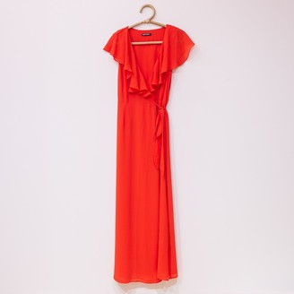 Wild Pony - Red Polyester Chiffon Dress - polyester   red   m - Red/Red