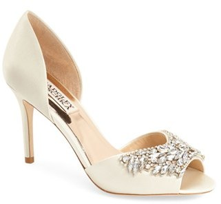 Women's Badgley Mischka 'Candance' Crystal Embellished D'Orsay Pump $215 thestylecure.com