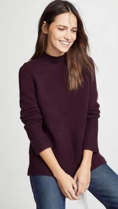 TSE Sweater with Curved Hem