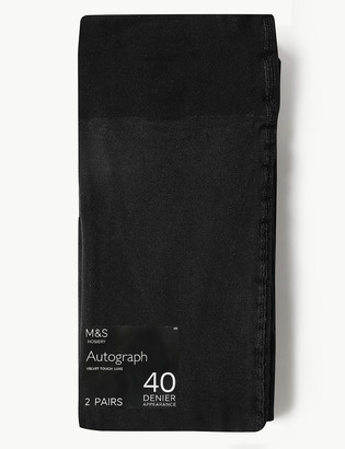 Marks and Spencer 2 Pair Pack 40 Denier Opaque Tights