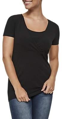 Mama Licious Mamalicious Lea Organic Nursing Top, Pack of 2, Black/White