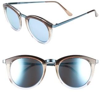 Women's Le Specs No Smirking Limited 50Mm Sunglasses - Coast/ Ice Blue $79 thestylecure.com