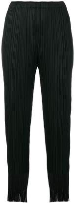 Pleats Please Issey Miyake pleated high waisted trousers